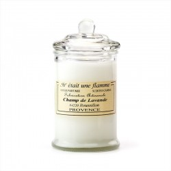 scented candle lavender field