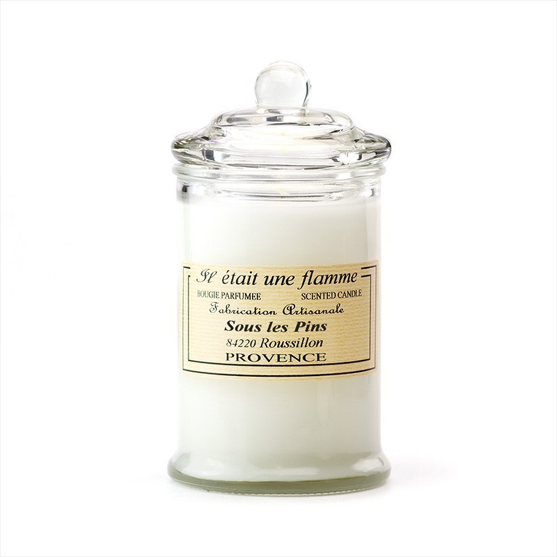 scented candle under the pines